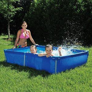 Best Swimming Pool for Garden Jilong Passaat Blue 188 - steel frame paddling pool, rectangular pool, 188x127x42cm