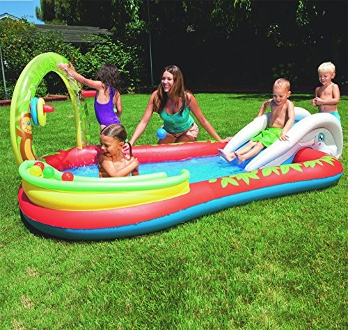 """Best Swimming Pool for Garden BESTWAY 110""""x 68""""x 40"""" INTERACTIVE PLAY POOL BW53051"""