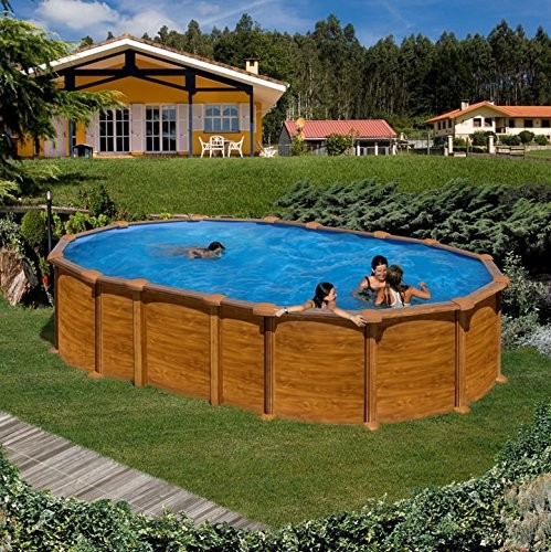 Best Swimming Pool for Garden Steel Wall Wood Effect Pool Gre 610 x 375 x 132 cm