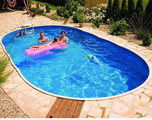 Best Swimming Pool for Garden Deluxe Oval Splasher Pool 24ft x 12ft With Sand Filter