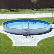 Best Swimming Pool for Garden Miganeo® Styra Steel Wall Round In-Built Pool Various Sizes 350 x 120 cm  – 600 x 150 cm and for Putting in The Ground