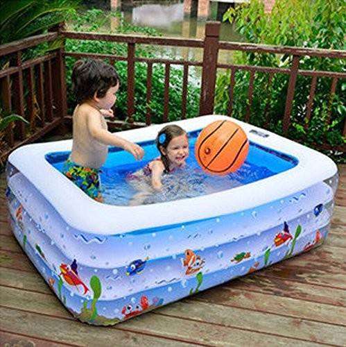 Gds fashion casual adult children 39 s inflatable pool big for Big paddling pool