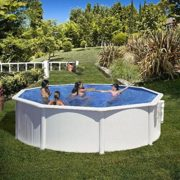 Best Swimming Pool for Garden Steel Frame White Azores Green ø 460 x 132 cm