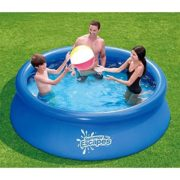 Best Swimming Pool for Garden 8Ft Inflatable Pool Great for Family Fun Garden Summer Easy to Set-up