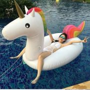 Best Swimming Pool for Garden KEXIN Giant Inflatable Unicorn mounts PVC inflatable floating bed adult/child swimming ring water recreation leisure Chair of 2-3 people 275*140*120cm