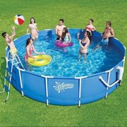 Best Swimming Pool for Garden 12ft X 36inch Metal Frame Pool Package with filter, pump, ladder and cartridge