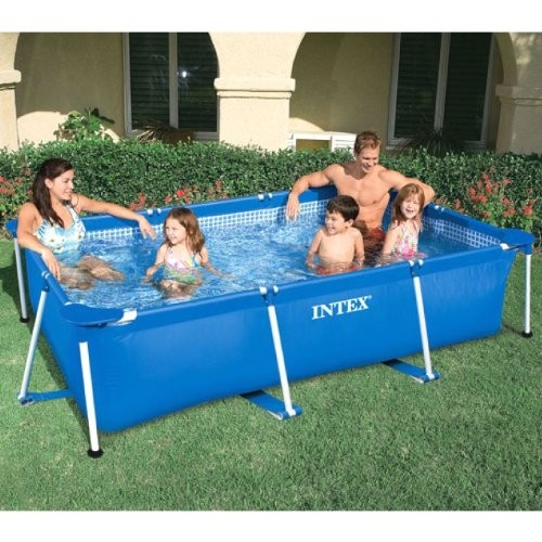 Intex 3m x 2m rectangular metal frame swimming paddling for Small paddling pool