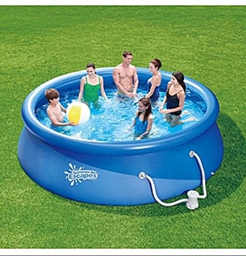 12ft x 36inch quick set pool with pump and cartridge best swimming pool for garden Inflatable quick set swimming pool
