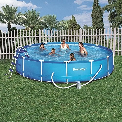 15 39 steel pro frame swimming pool set outdoor garden for Best children s paddling pool