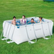 "Best Swimming Pool for Garden Bestway Rectangular Pool Hard ""Iseo Small 287x 201x 100h cm-40.6kg"