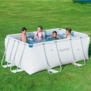 """Best Swimming Pool for Garden Bestway Rectangular Pool Hard """"Iseo Small 287x 201x 100h cm-40.6kg"""