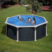 Best Swimming Pool for Garden Gre Circular Swimming Pool Rattan Barbados 460x120 cm.