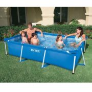Best Swimming Pool for Garden Intex Small Frame Pool Family Rectangular 86.5in x 59in x 23.5in