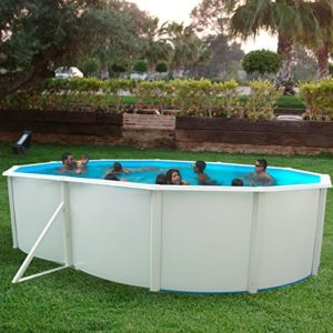 Best Swimming Pool for Garden White Coral Oval Steel Pool 5.5m x 3.66m