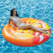 "Best Swimming Pool for Garden 71"" Orange, Yellow and White Inflatable Calypso Island Swimming Pool Raft with Perimeter Rope"